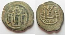 Ancient Coins - BEAUTIFUL: ARAB-BYZANTINE AE FILS. TIBERIAS MINT. ضرب طبرية