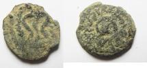 Ancient Coins - Judaea, Herodian Kings, Herod I, 40-4 BC, AE Double Prutah