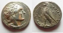 Ancient Coins - Egypt. Ptolemaic kings. Ptolemy VI Philometor (first sole reign, 180-164 BC). AR tetradrachm (27mm, 13.90g). Pathos mint.