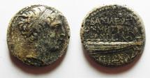Ancient Coins - SELEUKID KINGDOM. DEMETRIUS II AE 20. TYRE MINT