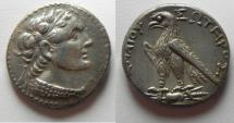 Ancient Coins - Egypt. Ptolemaic kings. Ptolemy V Epiphanes (204-180 BC). AR tetradrachm (26mm, 13.97g). Uncertain Cypriot or Phoenician mint.