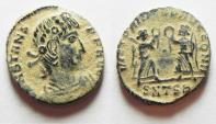 Ancient Coins - BEAUTIFUL WITH DESERT PATINA. CONSTANS AE 4