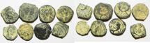 Ancient Coins - AS FOUND: LOT OF 8 NABATAEAN BRONZE COINS