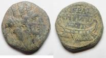 Ancient Coins - CHOICE COIN AS FOUND: PHOENICIA, Tyre. AE 19. Autonomous.  Year 93 / 94 AD. Time of Domitian