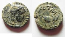 Ancient Coins - ORIGINAL DESERT PATINA: ARABIA. PETRA .ELAGABALUS AE 18