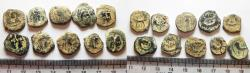Ancient Coins - NABATAEANS OF PETRA. LOT OF 10 AE COINS. ORIGINAL DESERT PATINA