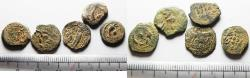 Ancient Coins - LOT OF 5 ANCIENT JUDAEAN AE PRUTOT