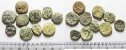Ancient Coins - LOT OF 10 ANCIENT BRONZE NABATAEAN COINS