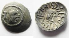 "Ancient Coins - ARABIA, Southern. Himyar. Ṯ""RN Y ̔B. Late 2nd century AD(?). AR Unit . RYDN (Raidan?) mint."