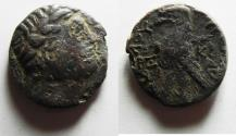 Ancient Coins - Phoenicia. Tyre. Imitative and possibly fouree AR Shekel (23mm, 8.99 g).