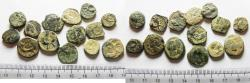 Ancient Coins - LOT OF 14 ANCIENT BRONZE NABATAEAN COINS
