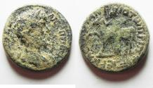"""Ancient Coins - AS FOUND: Marcus Aurelius AE25 """"Tyche Standing By Horse"""" Syria Antioch ad Hippum"""