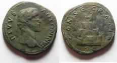 Ancient Coins - DIVUS ANTONINUS PIUS AE SETERTIUS. struck under Marcus Aurelius after 161 A.D