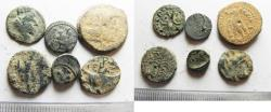 Ancient Coins - AS FOUND. LOT OF 6 GREEK AE COINS