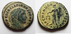 Ancient Coins - DIOCLETIAN AE FOLLIS. ORIGINAL DESERT PATINA