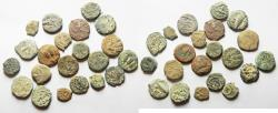 Ancient Coins - MOSTLY AS FOUND. LOT OF 21 JUDAEAN AE PRUTAH COINS