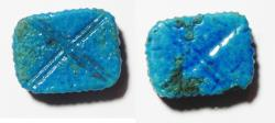 Ancient Coins - ANCIENT EGYPT - BEAUTIFUL FAIENCE BEAD. NEW KINGDOM. 1300 B.C