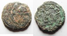 Ancient Coins - NEEDS CLEANING: JUDAEA. Herod the Great 37 - 4 BC. AE 8 Prutah Coin