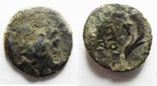 Ancient Coins - Phoenicia. Akko-Ptolemais. 175-164 BC Time of Antiochos IV. AE 16