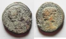 Ancient Coins -  CHOICE. NEEDS CLEANING:  Judaea Aelia Capitolina under Antoninus Pius (AD 138-161). AE 24mm, 11.77g.