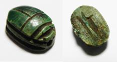 Ancient Coins - ANCIENT EGYPT, NEW KINGDOM. STONE SCARAB. 1400 B.C