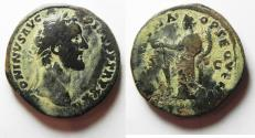 Ancient Coins - ANTONINUS PIUS AE SESTERTIUS . AS FOUND
