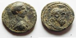 Ancient Coins - Apparently unpublished: ROMAN PROVINCIAL. Bostra? under Philip II as Caesar (AD 244-247). AE 23mm, 5.07g.