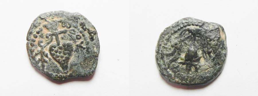 Ancient Coins - Judaean Kingdom, Herod Archelaus AE Prutah