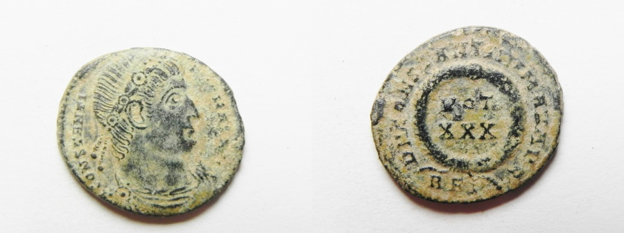 Ancient Coins - CONSTANTINE I AE 3 . ROME MINT AS FOUND