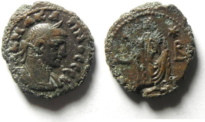 Ancient Coins - EGYPT , ALEXANDRIA , CARINUS POTIN TETRADRACHM