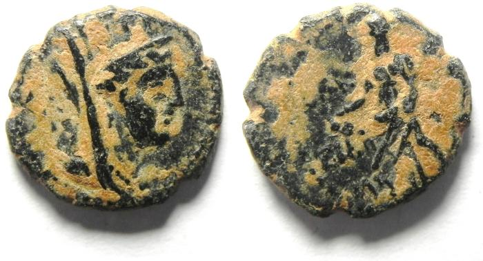Ancient Coins - PHOENICIA , TYRE , ROMAN AE 12 , NICE!