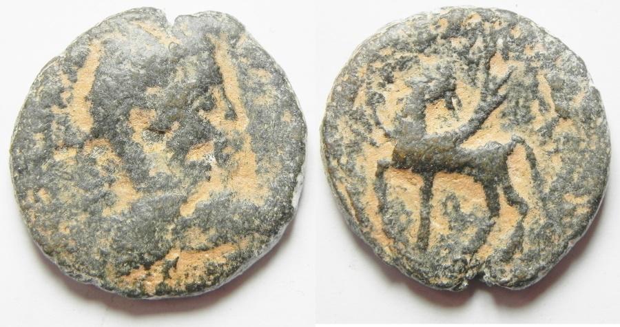 Ancient Coins - Arabia. Hippum . Elagabalus AE 24. RARE