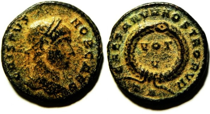 Ancient Coins - CRISPUS AE 3 , ROME MINT