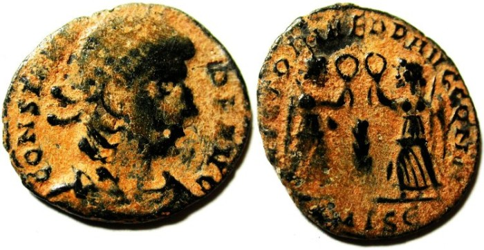 Ancient Coins - CONSTANS AE 3 , AS FOUND