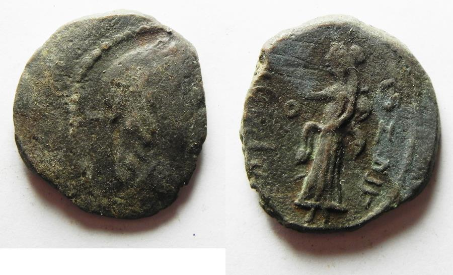 Ancient Coins - Nabataean Kingdom. Aretas IV (9 BC-AD 40). AE 20mm, 5.51g. Struck in regnal year 4 (6/5 BC).