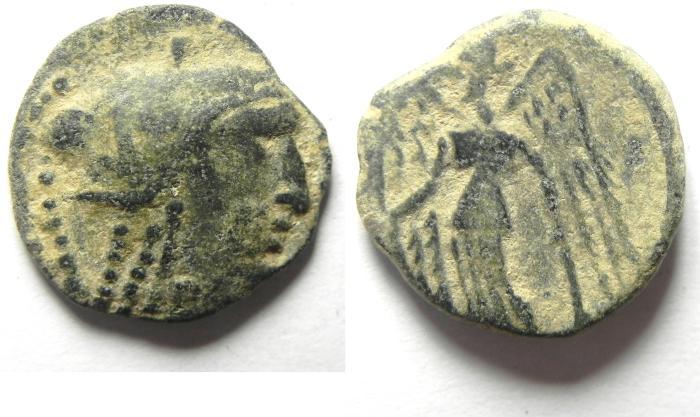 Ancient Coins - NABATAEAN KINGDOM OF PETRA , ARETAS III AE 16 , BEAUTIFULL QUALITY