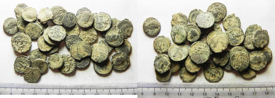 Ancient Coins - LOT OF 40 ANCIENT BRONZE ROMAN COINS