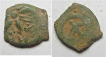 Ancient Coins - Judaea, Alexander Jannaeus, 103-76 BC, AE Lepton or Widow's Mite
