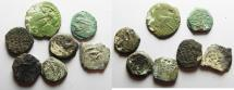 Ancient Coins - LOT OF 7 JUDAEAN AE PRUTOT