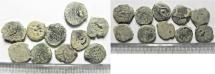 Ancient Coins - LOT OF 10 HASMONEAN / JUDAEAN AE PRUTOT