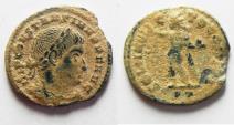 Ancient Coins - AS FOUND. CONSTANTINE I AE FOLLIS. NICE DESERT PATINA