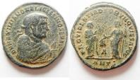 Ancient Coins - Maximianus AE Post 1st Abdication Follis. 306 AD