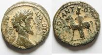 Ancient Coins - Marcus Aurelius, 161-180 Bronze Antiochia ad Hippum (Decapolis) 161-180, Æ 24mm