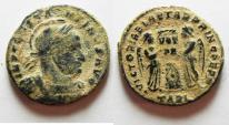 Ancient Coins - ORIGINAL DESERT PATINA. CONSTANTINE I AE 3 . ARLES MINT