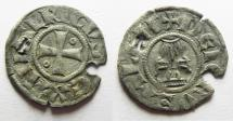 World Coins - Crusaders, Latin Kingdom of Jerusalem. Baldwin III (1143-1163). BI Denier