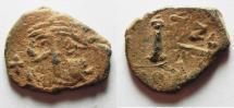 Ancient Coins - Constans II AE Decanummium.