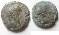 Ancient Coins - Egypt. Alexandria under Marcus Aurelius (AD 161-180). Billon tetradrachm (23mm, 10.80g). Struck in regnal year 8 (AD 167/8).