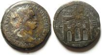 Ancient Coins - ALEXANDRIA, EGYPT - DOMITIAN AE DRACHM , TRIUMPHAL ARCH , YEAR 15 , NICE & RARE