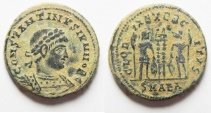 Ancient Coins - CONSTANTINE II AE 3 . AS FOUND. ALEXANDRIA MINT