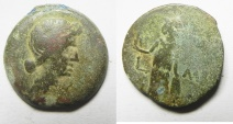 Ancient Coins - EGYPT. ALEXANDRIA UNDER AUGUSTUS. AE DIOBOL (23MM, 8.88G). STRUCK IN REGNAL YEAR 41 (AD 11/12). HEAD OF LIVIA
